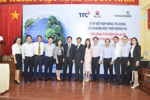 Vietcombank tài trợ dự án điện mặt trời tại Gia Lai