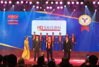 Công ty tài chính HD SAISON được vinh danh trong danh sách Thương hiệu Mạnh Việt Nam