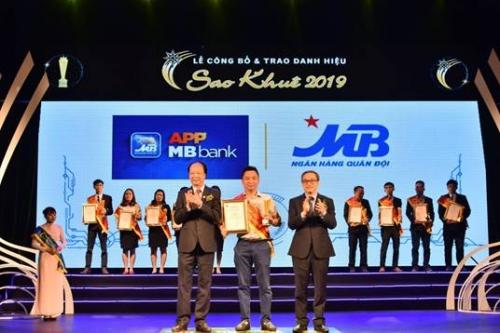 """App MBBank đạt danh hiệu """"Sao Khuê 2019"""""""