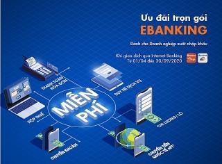 Sacombank ưu đãi nhiều loại phí ngân hàng điện tửdành cho doanh nghiệp xuất nhập khẩu