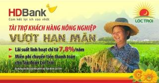 HDBank triển khai gói vay ưu đãi hỗ trợ khách hàng nông nghiệp vượt hạn mặn