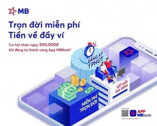 Chuyển tiền miễn phí tại MBBank