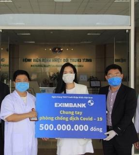 Eximbank tiếp tục ủng hộ 500 triệu đồng tiếp sức cho Bệnh viện Bệnh Nhiệt đới Trung ương