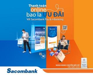 """""""Thanh toán online – bao la ưu đãi"""" với Sacombank"""