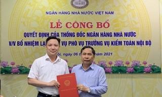 Công bố Quyết định bổ nhiệm lại Phó Vụ trưởng Vụ Kiểm toán nội bộ NHNN