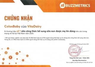 ColosBaby của VitaDairy là số 1 sữa công thức bổ sung sữa non