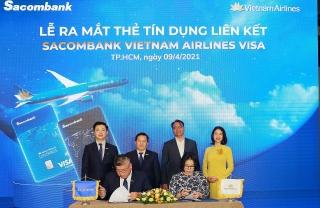 Sacombank hợp tác với Vietnam Airlinesra mắt thẻ tín dụng quốc tế đẳng cấp