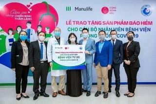 Manulife Việt Nam tri ân đội ngũ bác sĩ thông qua món quà bảo vệ