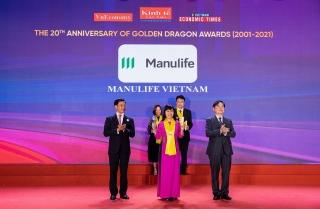 Manulife Việt Nam được vinh danh tại giải thưởng Rồng Vàng
