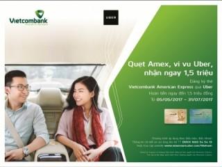 Vietcombank hoàn tiền ngay đến 1,5 triệu đồng cho chủ thẻ khi vivu cùng Uber