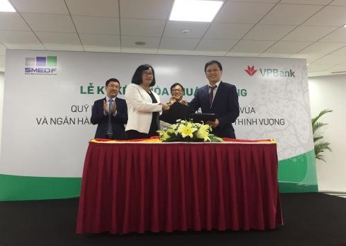 VPBank là ngân hàng nhận uỷ thác từ Quỹ Phát triển SME
