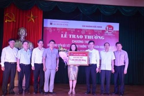 Agribank Bắc Ninh trao giải đặc biệt sổ tiết kiệm 1 tỷ đồng