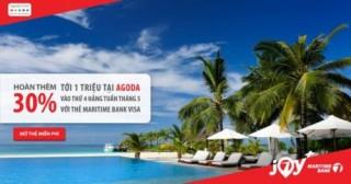 Vi vu hè và nhận hoàn tiền đến 1 triệu đồng cùng Maritime Bank