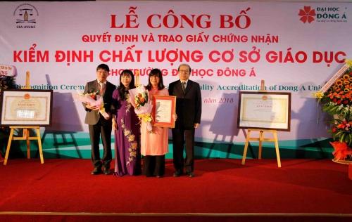 Đại học Đông Á đạt chuẩn kiểm định chất lượng giáo dục