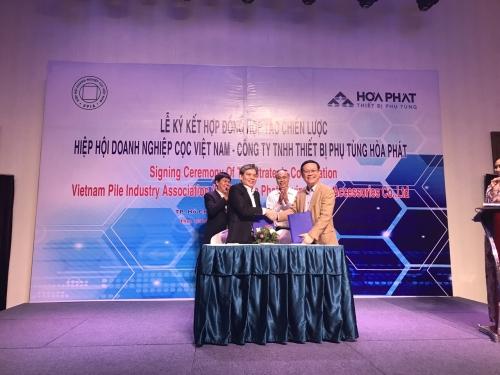 Hòa Phát hợp tác với Hiệp hội Doanh nghiệp Cọc Việt Nam