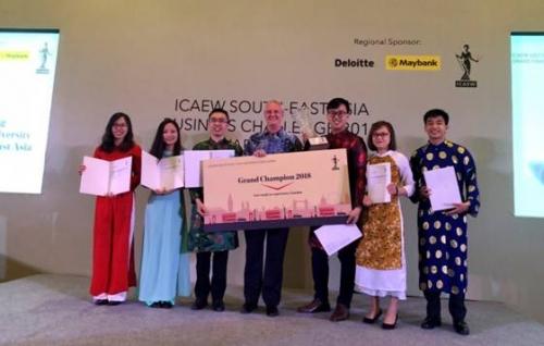Sinh viên Việt Nam vô địch Cuộc thi 'Chiến lược kinh doanh khu vực Đông Nam Á'