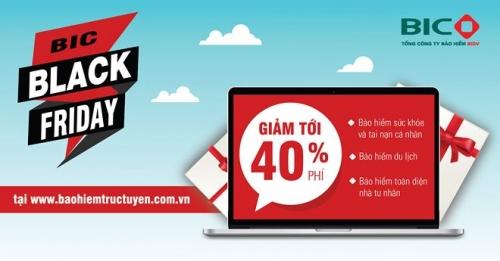 BIC Black Friday: Giảm phí sốc nhiều sản phẩm bảo hiểm qua kênh trực tuyến