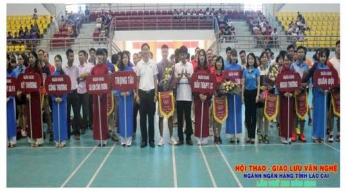 Ngành NH Lào Cai tổ chức Hội thao – Giao lưu văn nghệ lần thứ XIII năm 2018