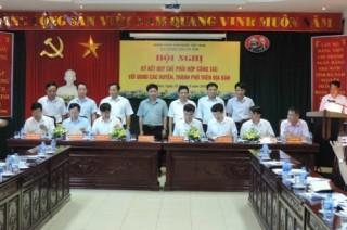 Hà Nam: NHNN tỉnh ký kết Quy chế phối hợp công tác với UBND các huyện, thành phố
