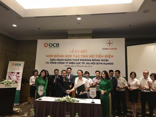 OCB hợp tác thu tiền điện với EVN HANOI