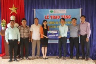 Cathay United Bank hỗ trợ xây dựng phòng học ở Quảng Nam