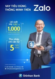Ngân hàng Shinhan triển khai dịch vụ vay tiêu dùng thông minh trên ứng dụng Zalo