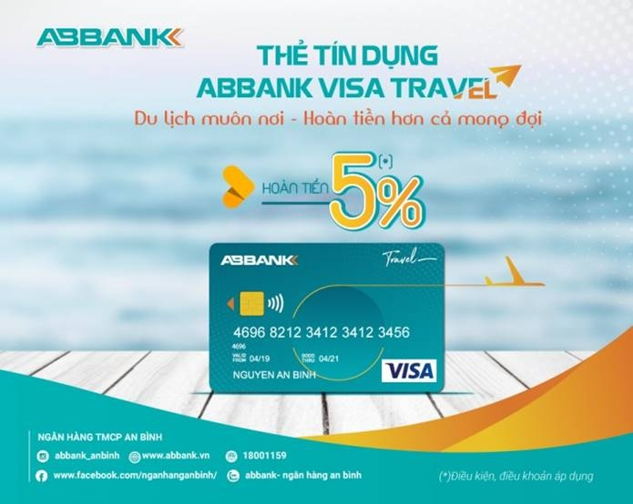 hoan tien den 5 cho chu the abbank visa travel