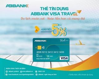 Hoàn tiền đến 5% cho chủ thẻ ABBANK Visa travel