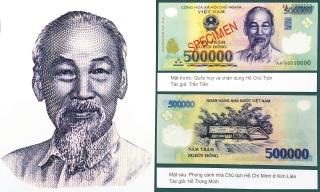 Hình ảnh Chủ tịch Hồ Chí Minh trên tiền Việt Nam