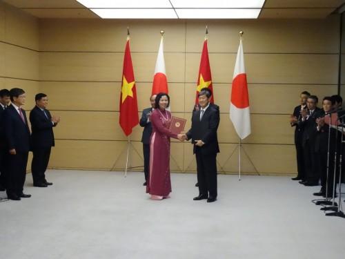 Nhật Bản tài trợ 166,124 tỷ Yên hỗ trợ Việt Nam xây dựng cơ sở hạ tầng