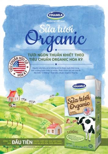 Vinamilk ra mắt sản phẩm sữa tươi organic tiêu chuẩn USDA Hoa Kỳ