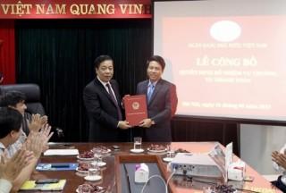Ông Phạm Tiến Dũng được bổ nhiệm Vụ trưởng Vụ Thanh toán (NHNN)