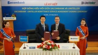 Sacombank hợp tác với công ty chuyển tiền quốc tế Uniteller
