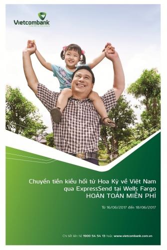 Vietcombank ưu đãi khách hàng chuyển tiền kiều hối
