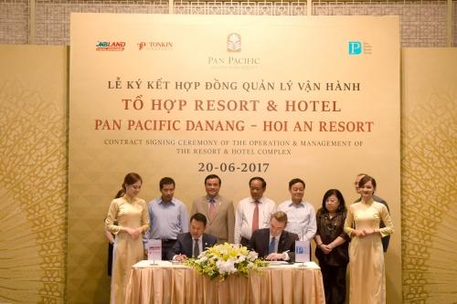 Ký kết hợp đồng quản lý dự án BĐS cao cấp Pan Pacific Danang - Hoi An Resort
