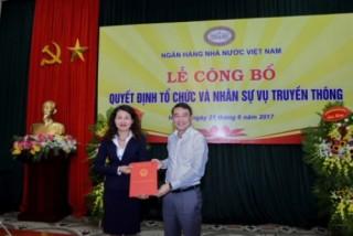 Bà Lê Thị Thúy Sen được bổ nhiệm giữ chức Phó Vụ trưởng Vụ Truyền thông (NHNN)