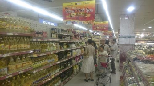 Hàng Thái Lan được bày bán tại các siêu thị Fivimart