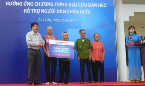 LienVietPostBank tiếp tục giải cứu heo tại Bạc Liêu