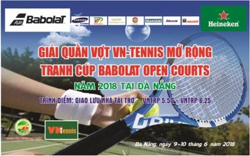 Sắp diễn ra Giải tennis mở rộng tranh cúp Babolat open Court 2018