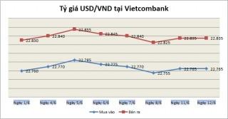 Tỷ giá ngày 12/6: Tỷ giá trung tâm và giá USD ngân hàng tăng giảm trái chiều