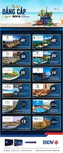 Nhiều ưu đãi du lịch hấp dẫn dành cho chủ thẻ BIDV Premier