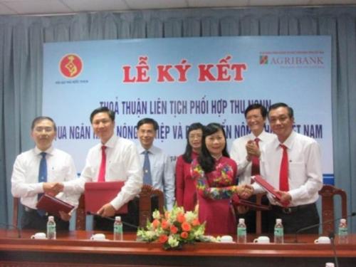 Agribank Sài Gòn phối hợp với Kho bạc TP.HCM thu ngân sách
