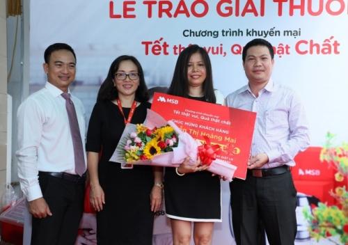 MSB trao giải Đặc biệt cho các khách hàng may mắn