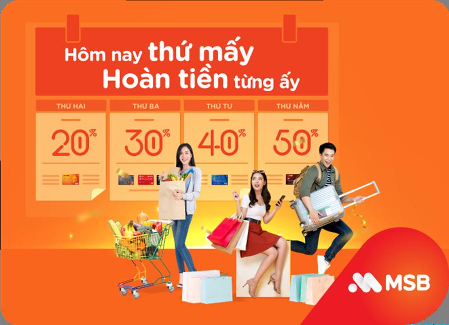 MSB dành nhiều ưu đãi cho khách hàng chi tiêu online