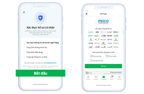 Ví điện tử Moca khuyến nghị người dùng xác thực thông tin
