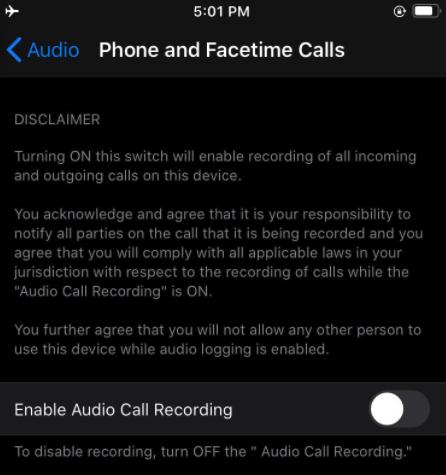 iPhone sắp có ghi âm cuộc gọi