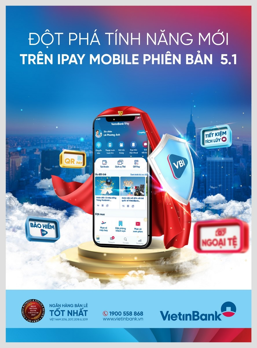 dot pha tinh nang voi phien ban moi nhat vietinbank ipay mobile 51