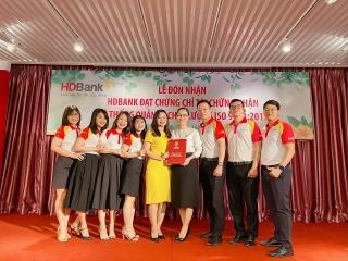 HDBank nhận chứng nhận ISO 9001:2015