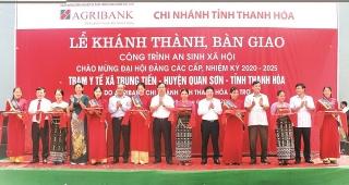Agribank Chi nhánh tỉnh Thanh Hóa: Khánh thành và bàn giao 2 công trình an sinh xã hội