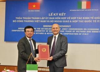 Việt Nam và Italia ký thỏa thuận thành lập Ủy ban hỗn hợp về hợp tác kinh tế